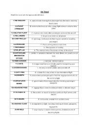 English Worksheet: Airport vocabulary and roleplay