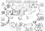 English Worksheets: farmyard animals worksheet