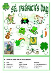 English Worksheets: St. Patrick´s day