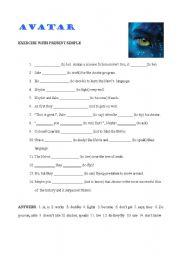English Worksheet: Avatar, the movie