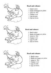 English Worksheets: Coloure the genie