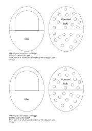 English Worksheet: make an Easter egg