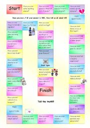 English Worksheet: Have you ever...? Fully Editable Board Game