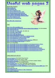 English Worksheets: useful web pages 2. (2ws)
