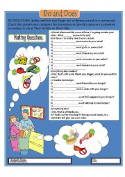 English Worksheet: Making Questions with Do and Does