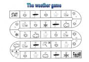 English Worksheet: The weather game + instructions