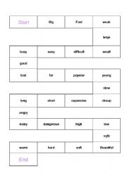 English Worksheet: Comparatives game board