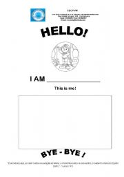 English Worksheets: Greetins, hello and bye-bye