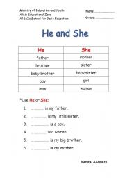 he and she worksheet esl worksheet by al neyadi. Black Bedroom Furniture Sets. Home Design Ideas