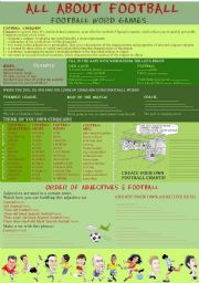 English Worksheet: All about football