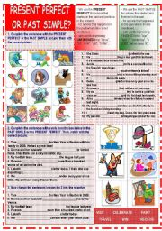 English Worksheet: present perfect or past simple?