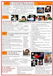 English Worksheet: Phrasal verbs: put, get, turn, look.