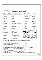 English Worksheets: Rhino and the Tickbird