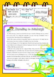 English Worksheet: FULL TERM TEST N� 2 FOR 8TH BASIC EDUCATION( part 1)