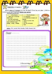 English Worksheet: FULL TERM TEST N° 2 FOR 8TH BASIC EDUCATION ( part 3 )