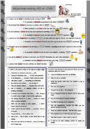 English Worksheet: Adjectives ending -ED or -ING