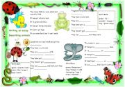 English Worksheet: Writing about animals - describing