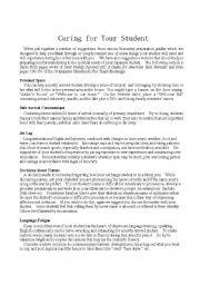 English Worksheets: Homestay Preparation Guide
