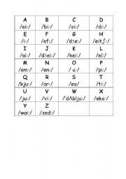 ENGLISH ALPHABET - ESL worksheet by BONIMARTIN