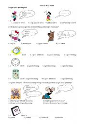 Grade 4 worksheets english