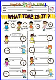 English Worksheet: What time is it ?