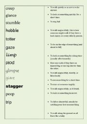 English Worksheet: CAE - Advanced - C1 miming game - Mime the verb of moment