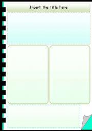 English worksheet: Worksheet template