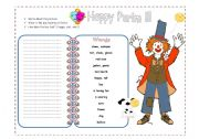 English Worksheets: Happy Purim- Picture / Writing  ( 2 pages)
