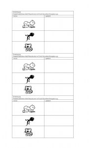 English Worksheets: growing up