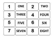 English Worksheets: Number memory game