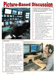English Worksheet: Picture-Based Discussion (23): Television/Radio