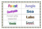 English worksheet: Natural Spaces´ names