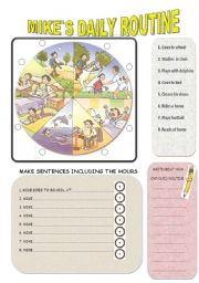 English Worksheets: MIKE�S DAILY ROUTINE