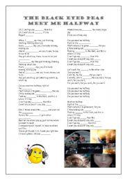 English Worksheets: The Black Eyed Peas - Meet Me Halfway