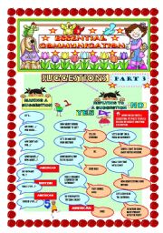 English Worksheets: essential communication/ SUGGESTIONS/ PART 3