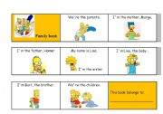English Worksheets: Family Comics Book