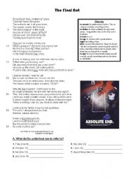 English Worksheets: The Final Act