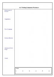 English Worksheets: SAT Writing Evaluation Worksheet