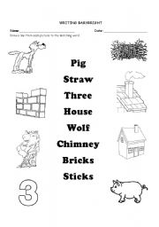English Worksheets: matching words and picture