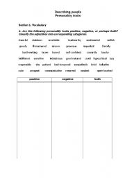 describing people personality traits esl worksheet by olga spb. Black Bedroom Furniture Sets. Home Design Ideas