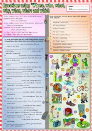 English Worksheet: Questions using