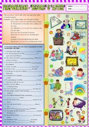 English Worksheet: Prepositions -