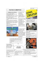 English Worksheet: Politics & Coruption