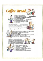 English Worksheet: Coffee Break