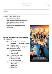 English Worksheets: Bedtime Stories -Movie-based activities