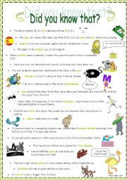 English Worksheets: Did you know that?