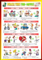 English Worksheets: Phrasal Verbs (Tenth series). Exercises (Part 2/3). Key included!!!
