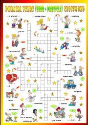 English Worksheet: Phrasal Verbs (Tenth series). Crossword (Part 3/3)
