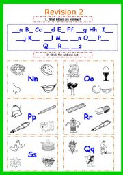 English Worksheets: Writing letters. Revision 2 (Nn - Ss) Part 7