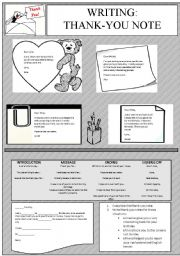 English Worksheets: WRITING - Thank-you note